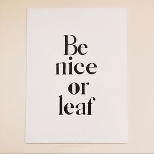 """Other - ☆""""Be Nice or Leaf"""" Painting ☆"""